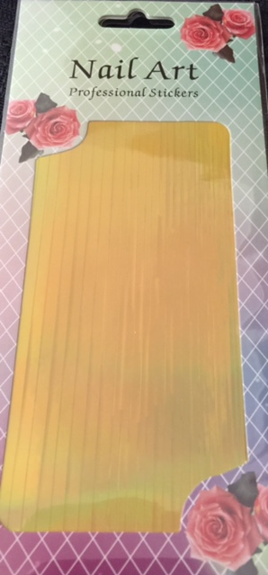 Striping Tape Large Sheet – Gold Holographic