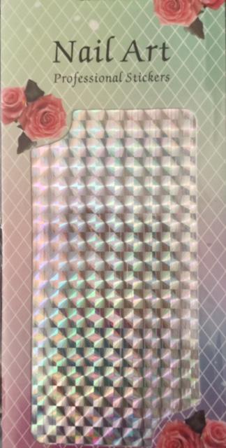 Striping Tape Large Sheet – Silver Squares