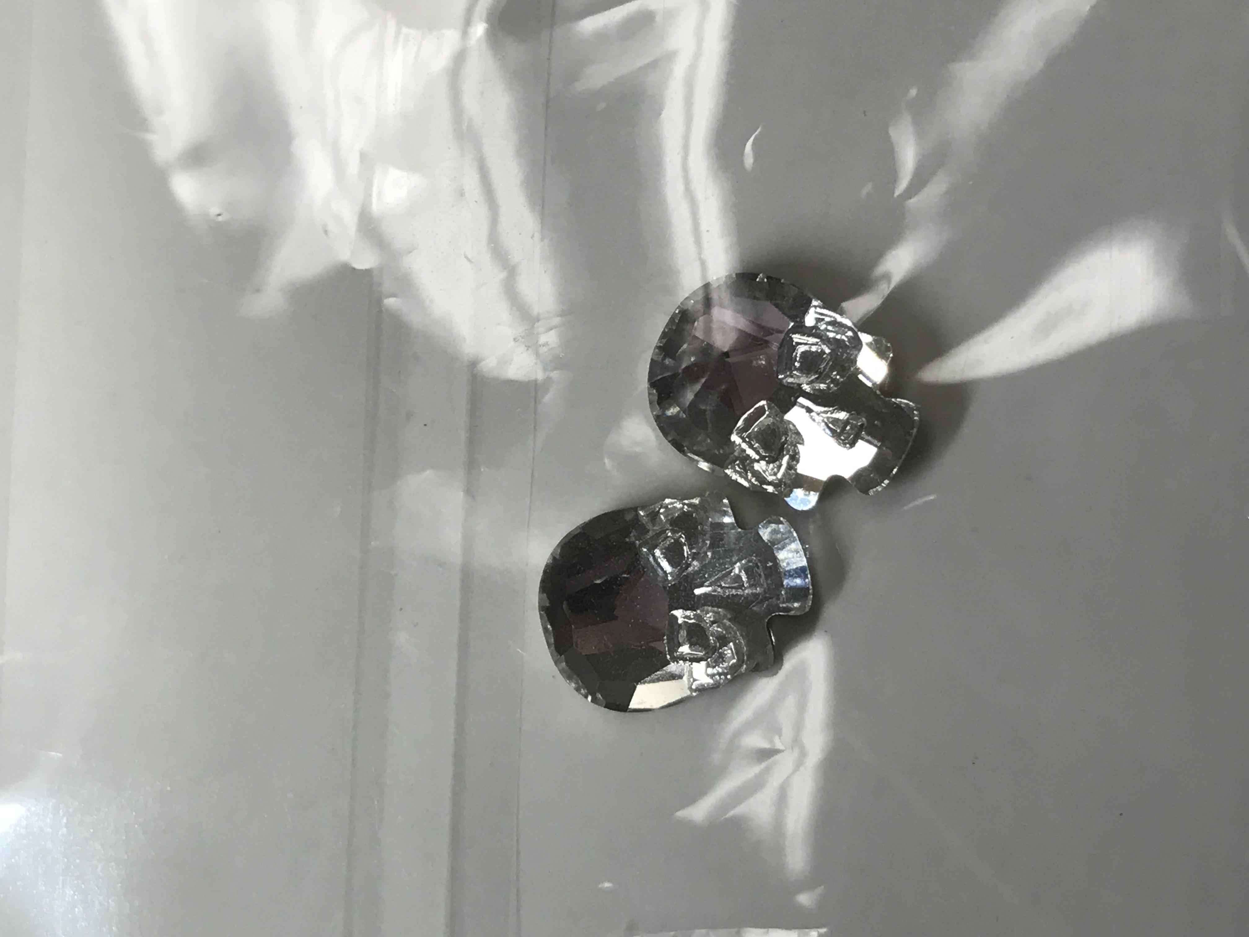 Crystal Skull – 2 Pack – Silver