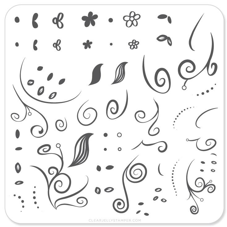 Plate Small-Floral Swirl 1