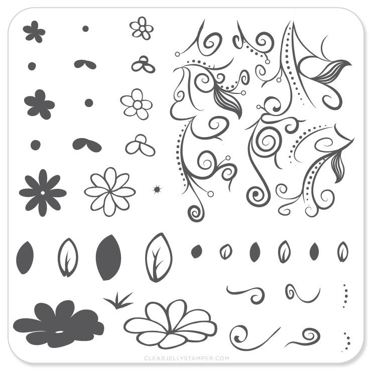 Plate Small-Floral Swirl 2