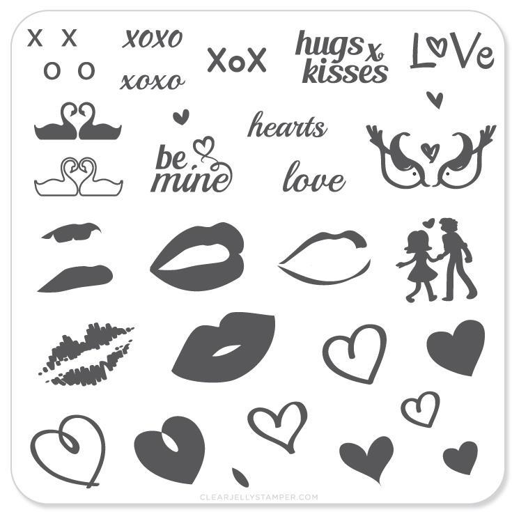 Plate Small-Luscious Lips & Love