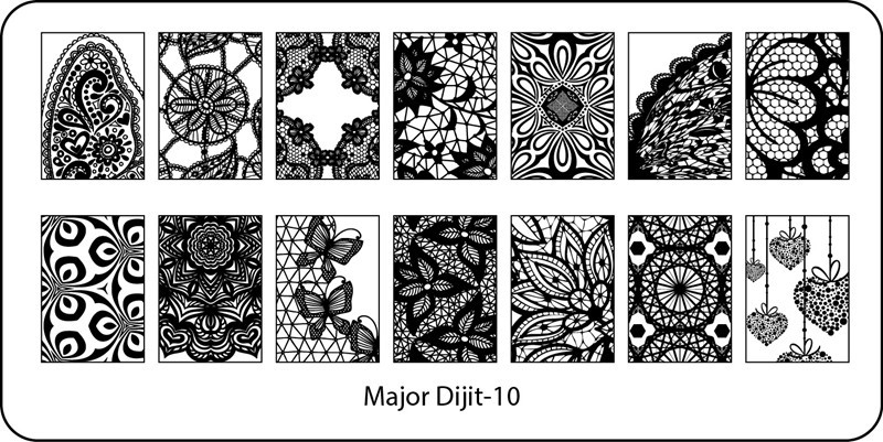 Stamping Plate Major Dijit – 10  Lace Pattern – Variety