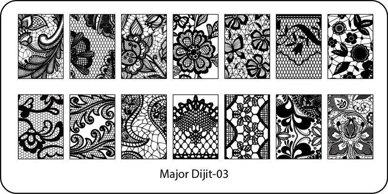 Stamping Plate Major Dijit – 03  Lace Pattern – Variety