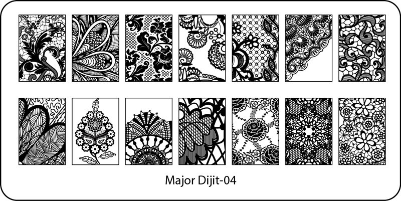 Stamping Plate Major Dijit – 04  Lace Pattern – Variety