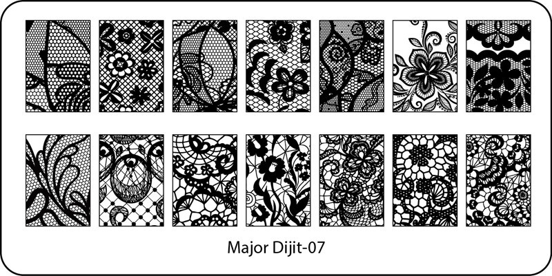 Stamping Plate Major Dijit – 07  Lace Pattern – Variety
