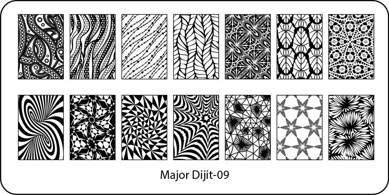 Stamping Plate Major Dijit – 09  Funky Pattern – Variety