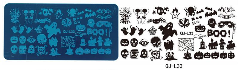 Stamping Plate Small QJ-L33 Halloween