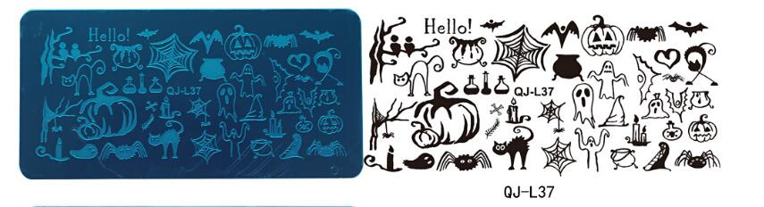 Stamping Plate Small QJ-L37  Halloween