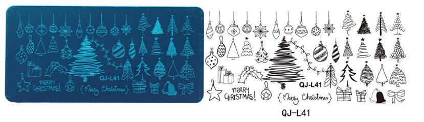 Stamping Plate Small QJ-L41  Christmas
