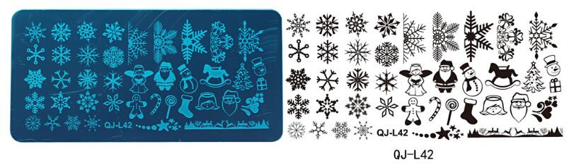 Stamping Plate Small QJ-L42  Christmas
