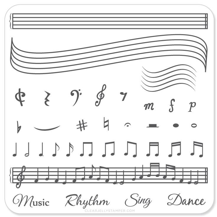 Plate Small-Music & Notes