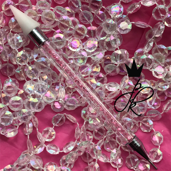 Rhinestone Applicator Pen Pink Crystal