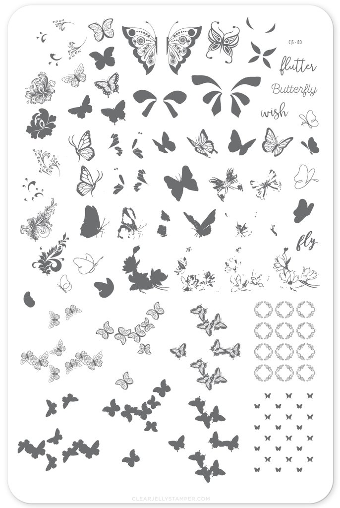Plate Large-Butterfly Wishes (80)