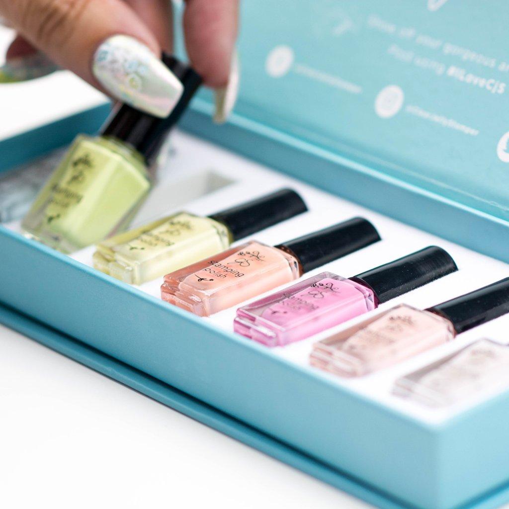 Stamping Polish Kit – Pastel (7 Colors)