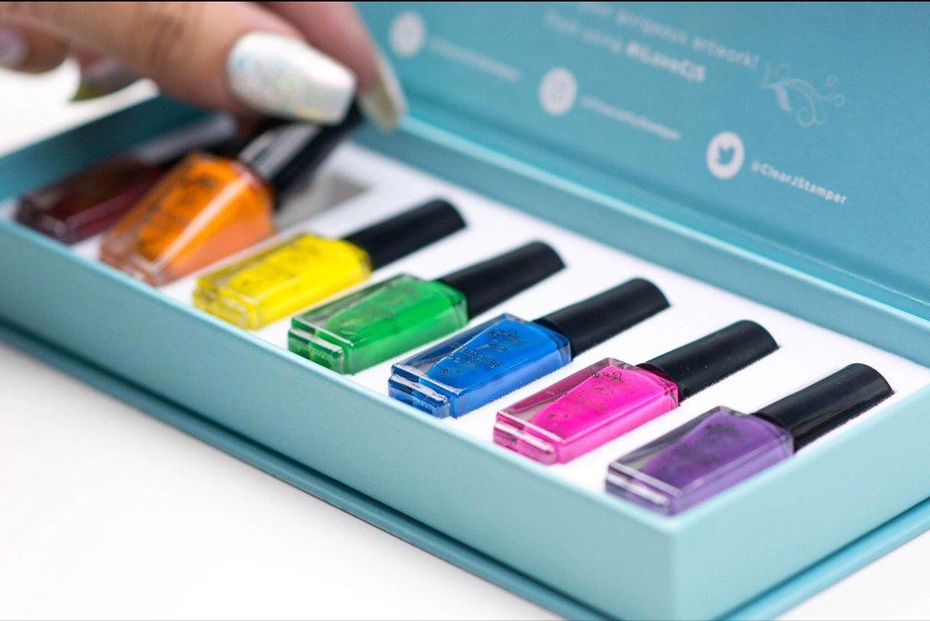 Stamping Polish Kit – Rainbow Kit (7 Colors)