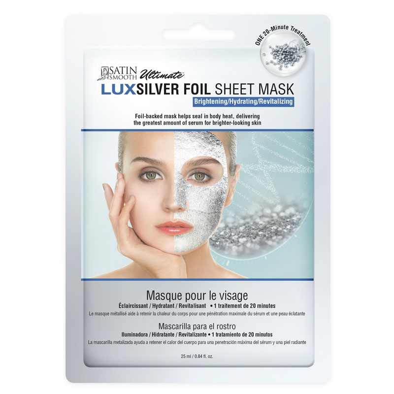 Satin Smooth LUXSilver Foil Sheet Mask