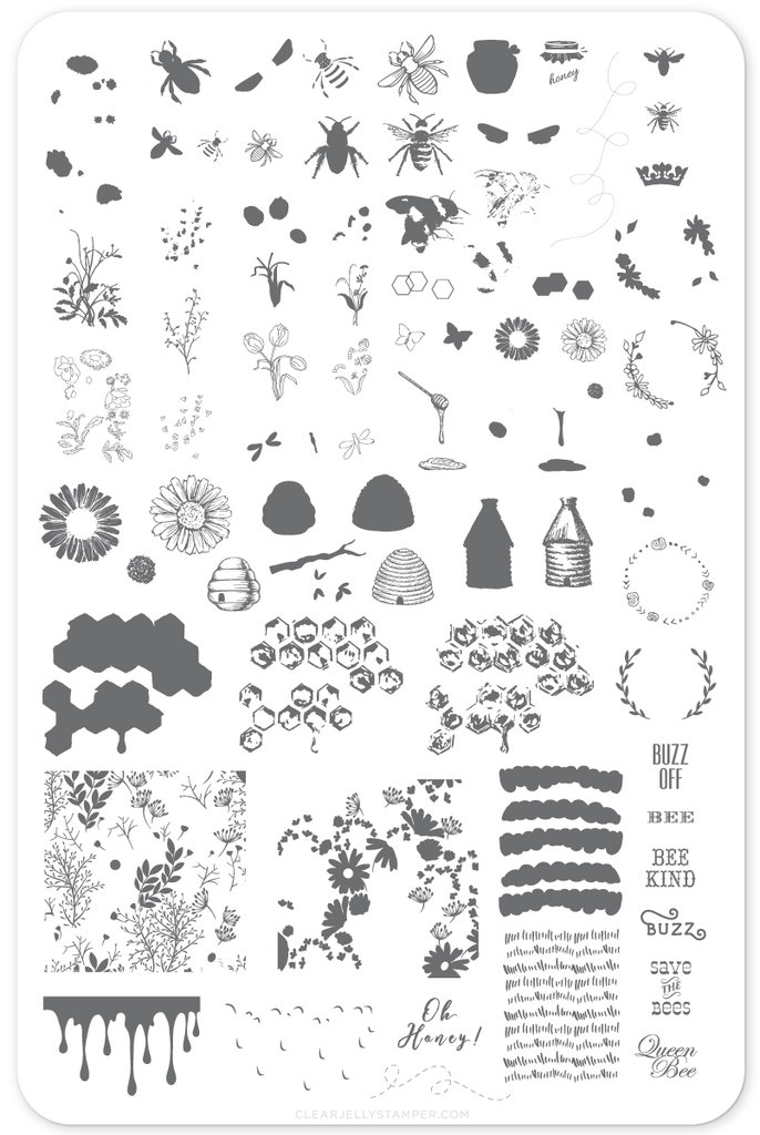 Plate Large-Save The Bees (CJS-68)