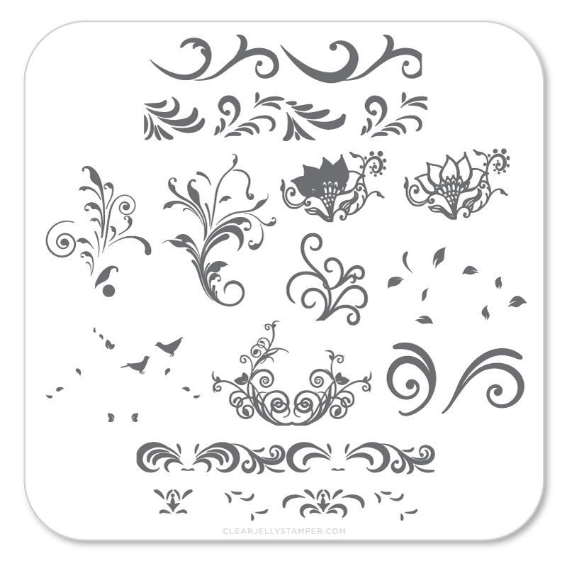 Plate Small-Petit Swirls (49)