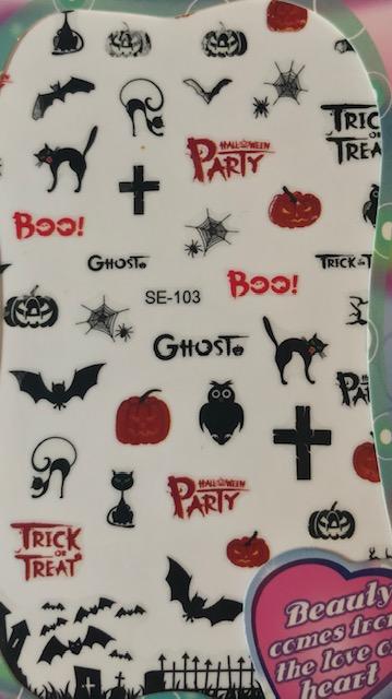 Halloween, Bats, Cats, Ghosts, and more Decals Jumbo Sheet