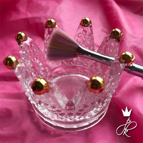 PK Crystal Brush Holder Gold