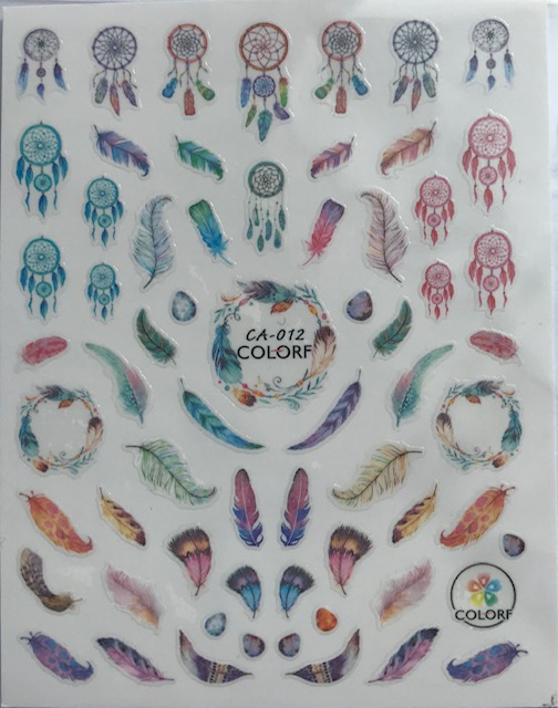 Dream Catches, Feathers Water Decals Jumbo Sheet