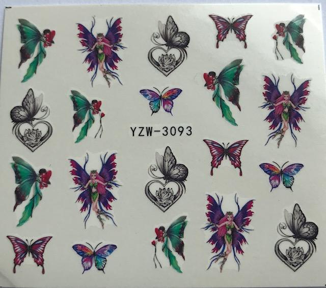 Fairies and Butterfly Water Decals