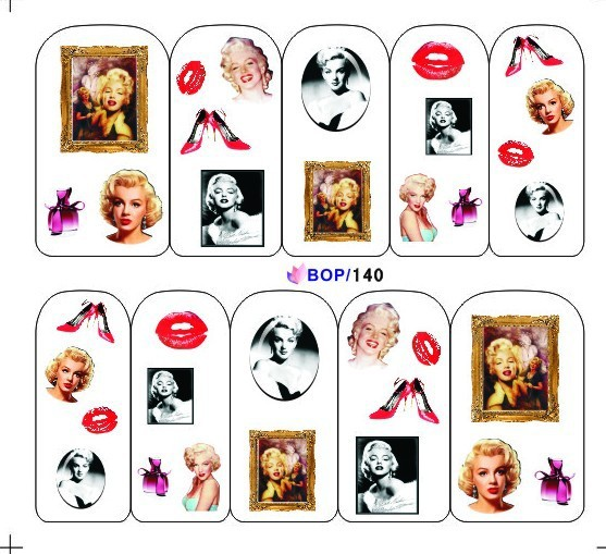 Marilyn Monroe Water Decals