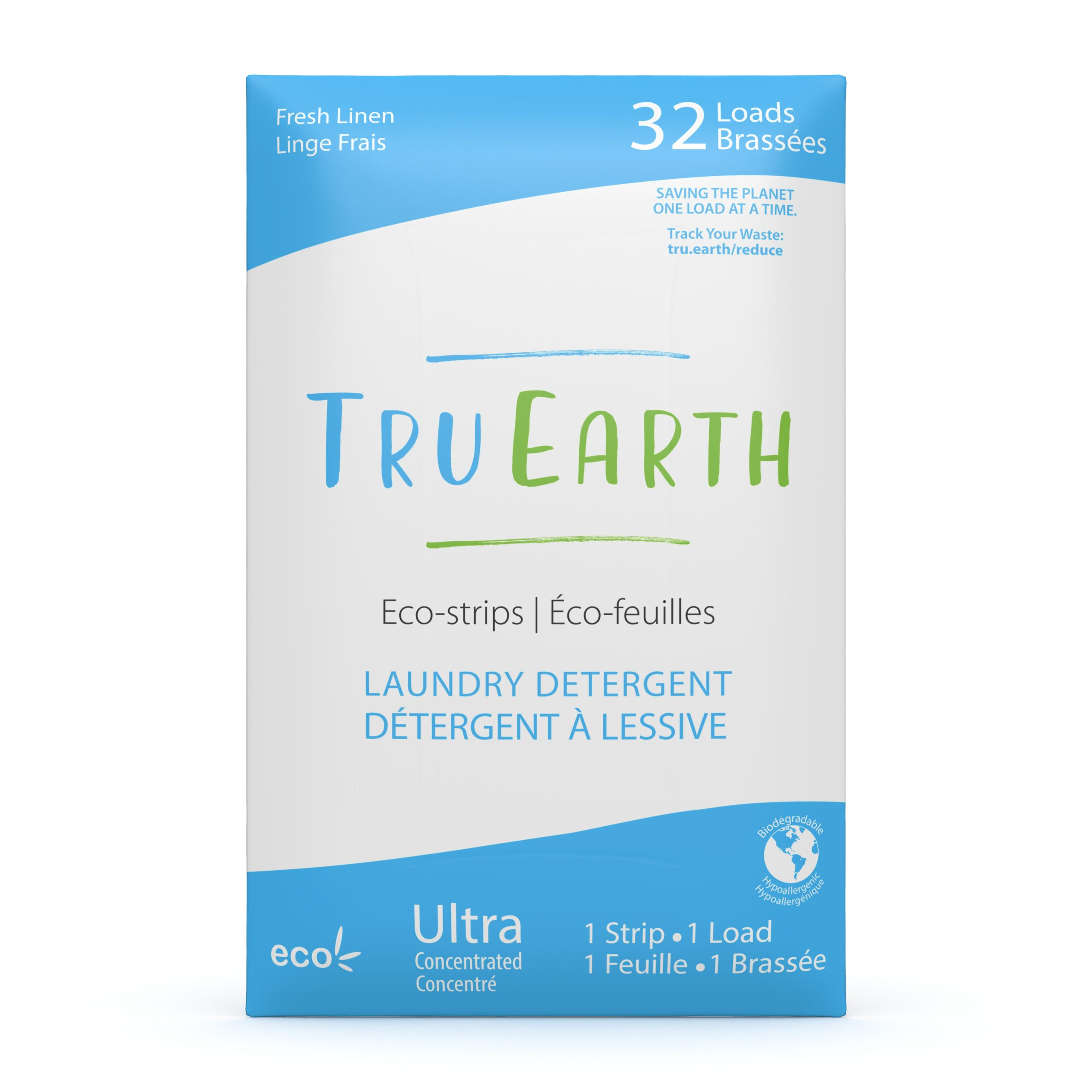 Tru Earth Laundry Strips Linen Scented, 32 Loads