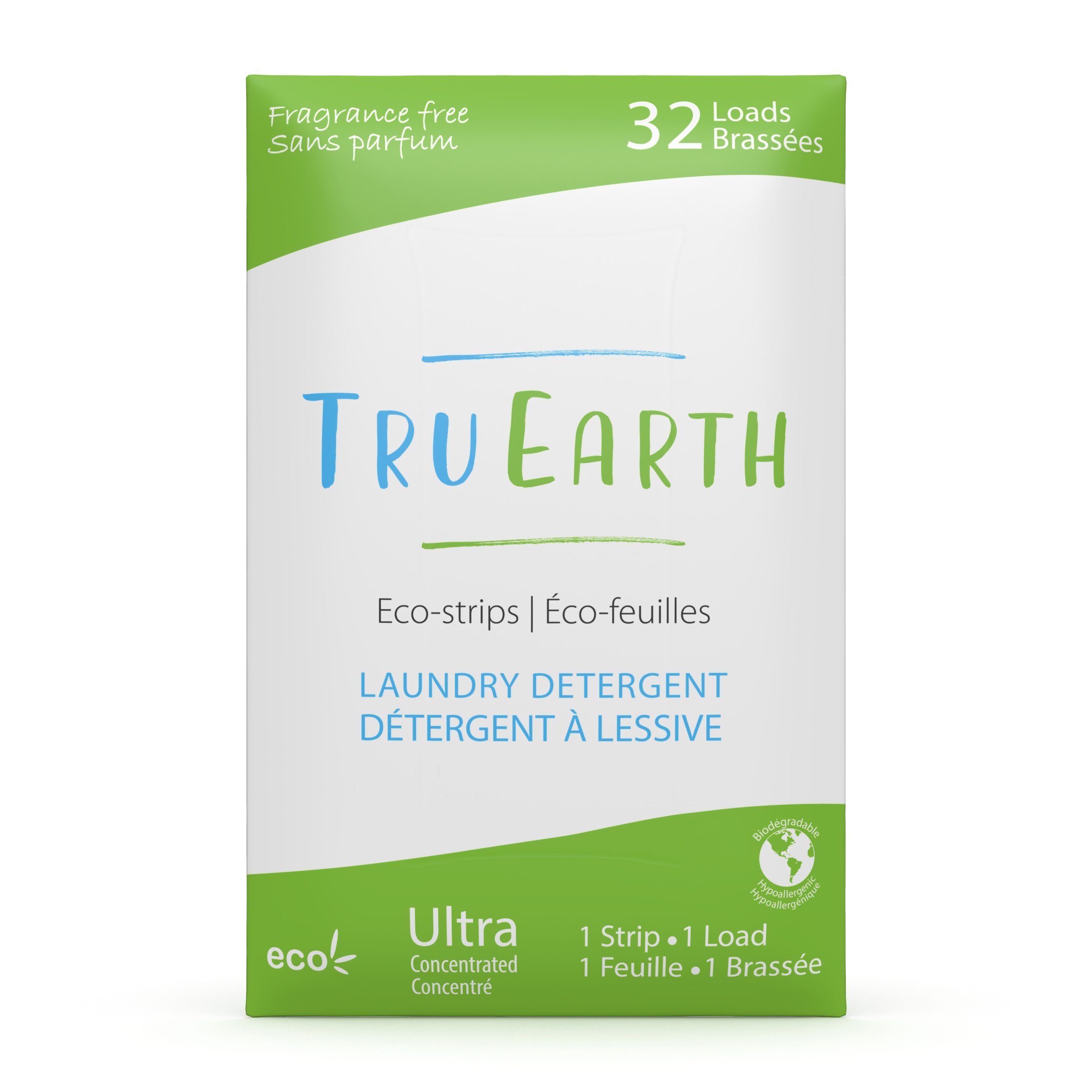 Tru Earth Laundry Strips Unscented, 32 Loads