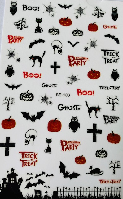 Halloween Sticker, Bats, Cats, Pumpkins and more