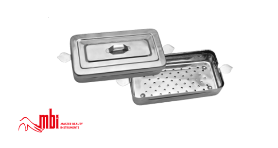 MBI Instrument Sterilization Tray with lid 10″x4″x2″