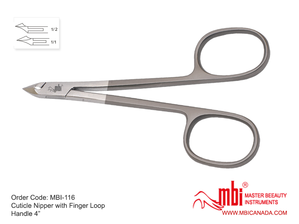 MBI Cuticle Nipper with Finger Loop 1/4 Jaw