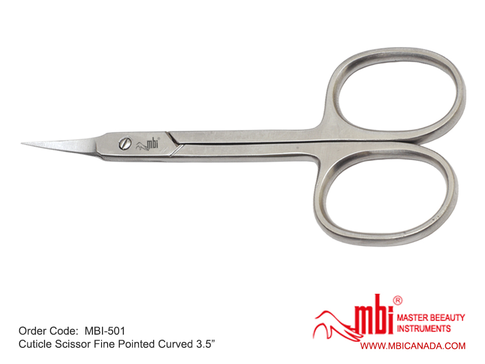 MBI Cuticle Scissor Fine Pointed Curved  Size 3.5″