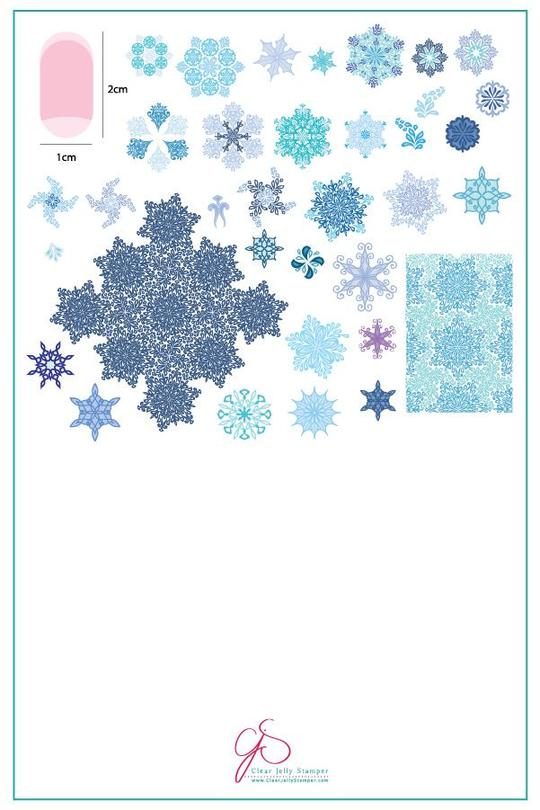 Plate Large Frozen Flakes (CJS-143)