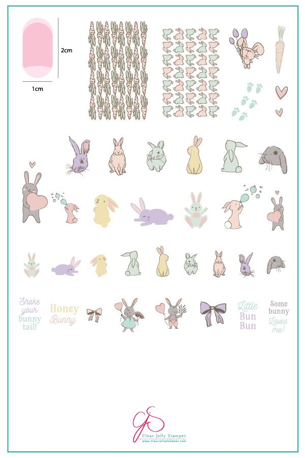 Plate Large – Honey Bunny  (H-33)