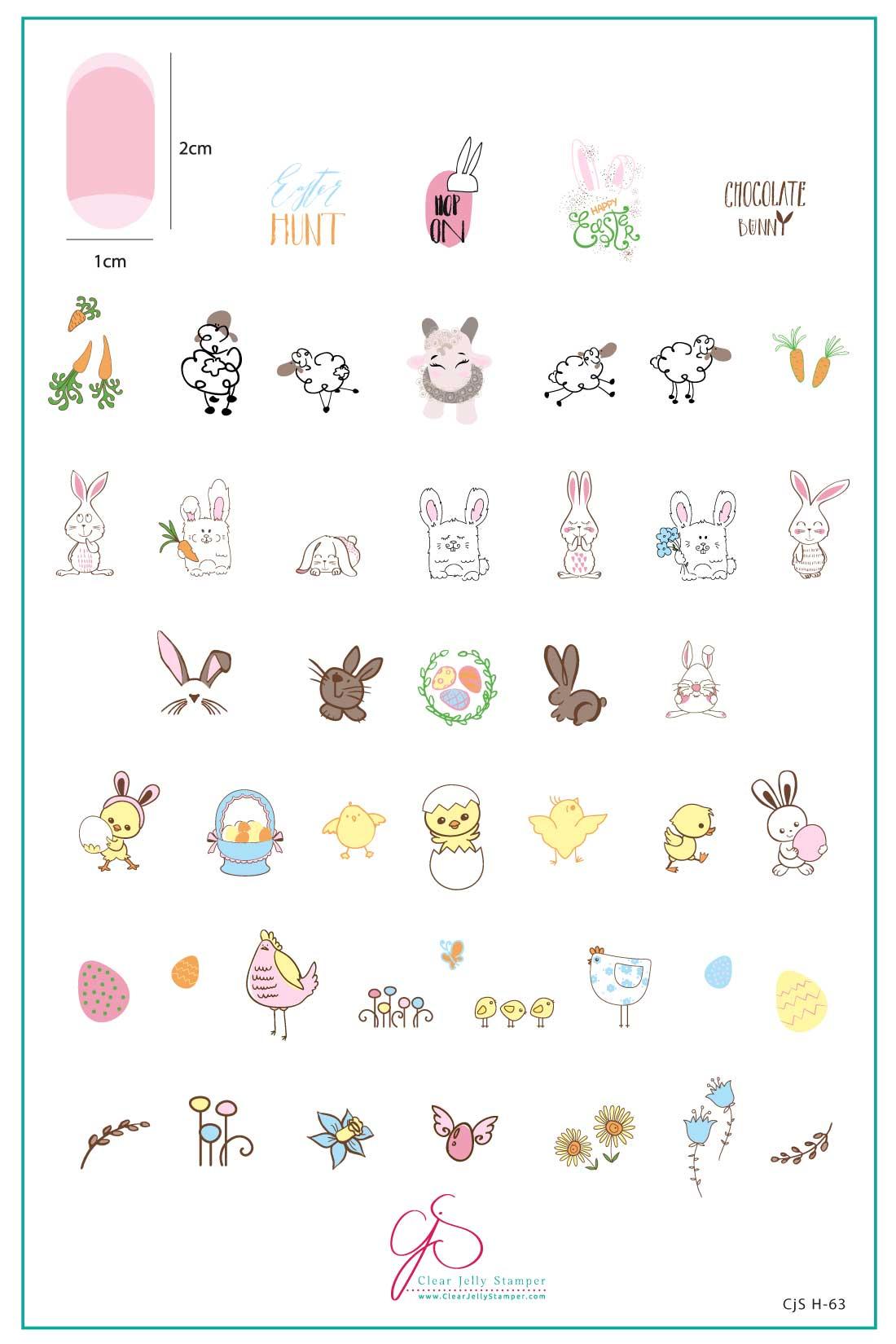 Plate Large – Hoppy Easter  (H-63)
